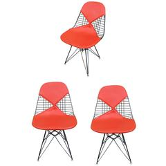 "Set of Three Herman Miller Eames DKR ""Bikini"" Chairs"