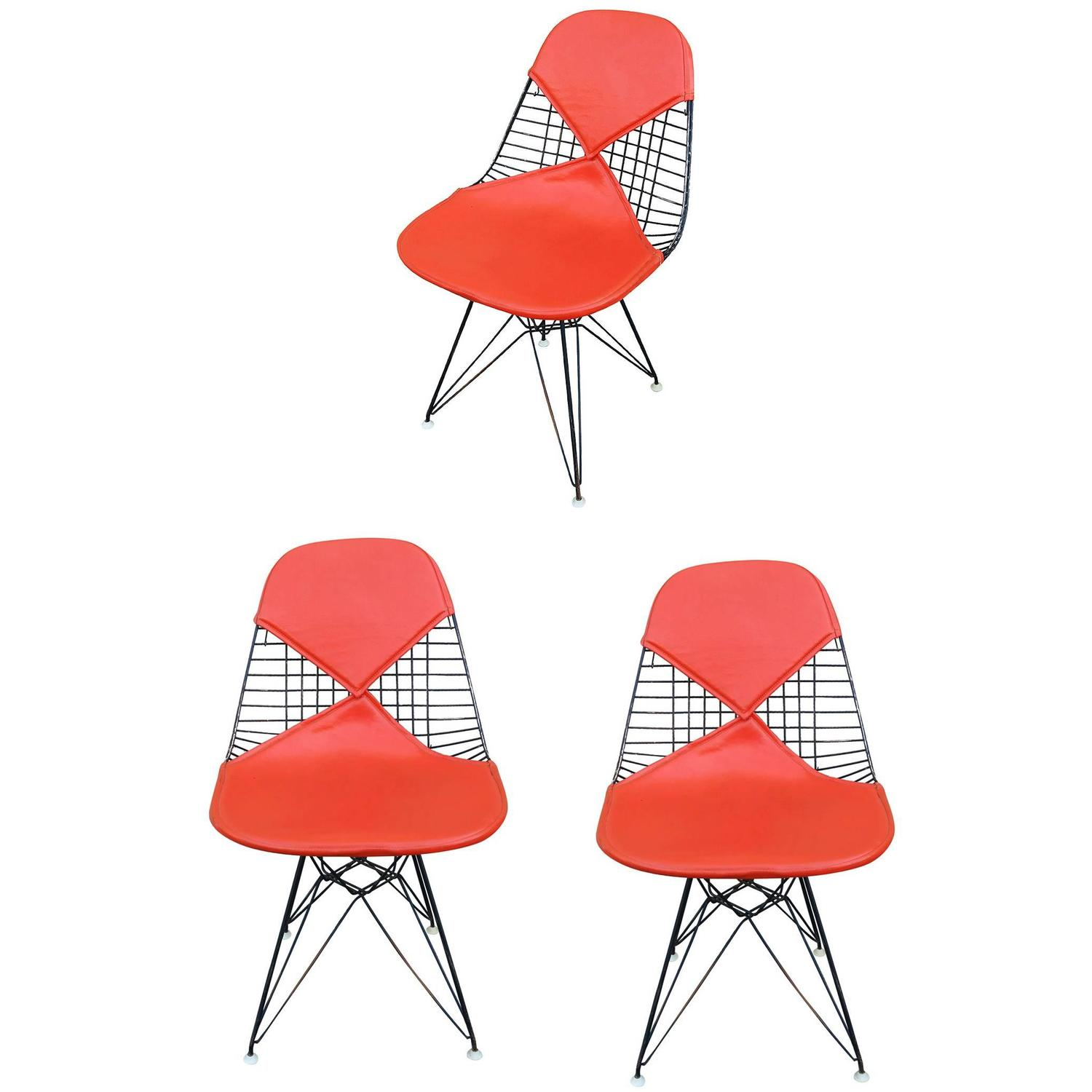 "Set of Three Herman Miller Eames DKR ""Bikini"" Chairs For Sale at"