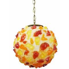 Multi-colored Lucite Spun Spaghetti Ceiling Pendant **Saturday Sale**