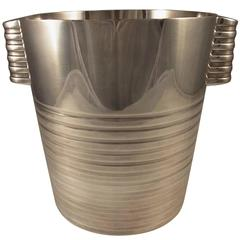 Art Deco Silver Plated Champagne Bucket by Luc Lanel for Christofle, circa 1932