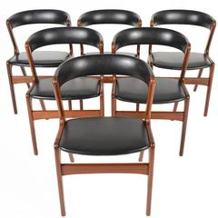Set of Six Kai Kristiansen Walnut Dining Chairs