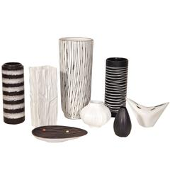 Collection of Black and White Pottery