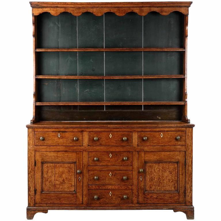 English Antique Oak Welsh Cupboard Cabinet, Early 19th ...