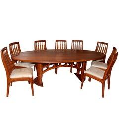 1994 Randy Bader Handmade Craftsman Dining Suite