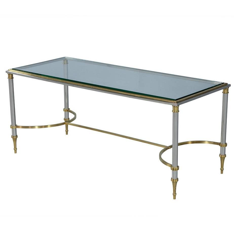 Maison Jansen Style Polished Chrome And Brass Cocktail