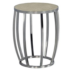 Round Polished Chrome Occasional Table