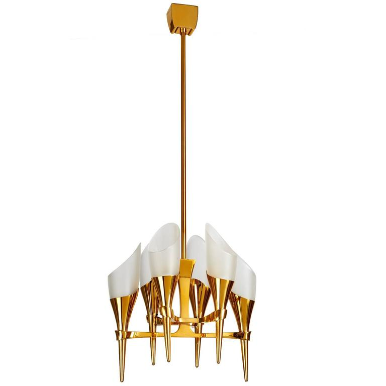 Elegant Max Ingrand Chandelier for Fontana Arte, circa 1960 For Sale
