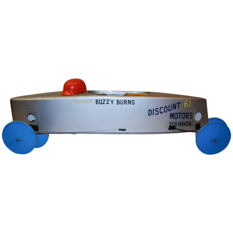 Official Buzzy Burns Soap Box Derby Fiberglass Car, Circa