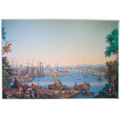 """Rare Zuber Panel """"Boston Harbor"""""""