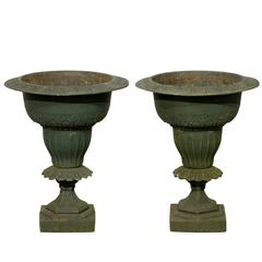 19th Century Regency Style Urns in Iron