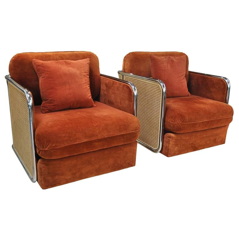 Thayer Coggin Lounge chairs attributed to Milo Baughman