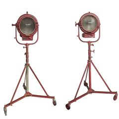 Pair of Mole Richardson Rolling Spotlights