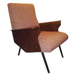 Osvaldo Borsani, Rare Single Mid-Century Club Chair, Model D72