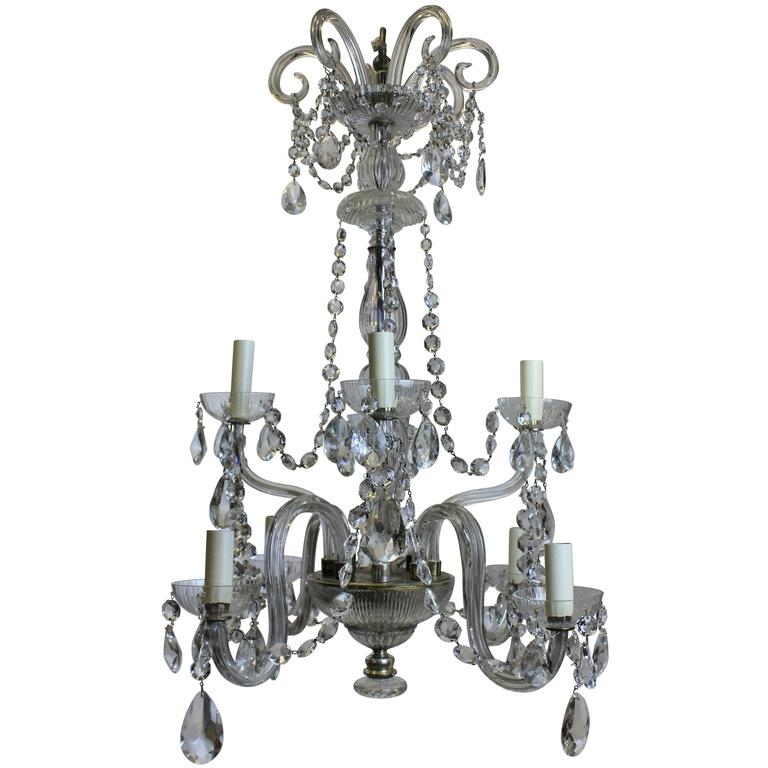 French cut glass chandelier for sale at 1stdibs french cut glass chandelier for sale aloadofball Choice Image