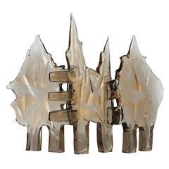 Rare Abstract Murano Glass Sculpture Designed by Luciano Gaspari