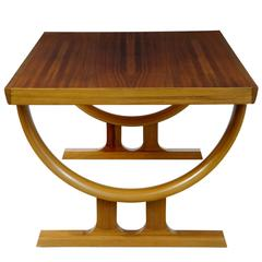 1970s Scandinavian Teak and Walnut Coffee Occasional Table