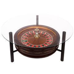 20th Century Novelty John Huxley Roulette Wheel Coffee Table, circa 1980