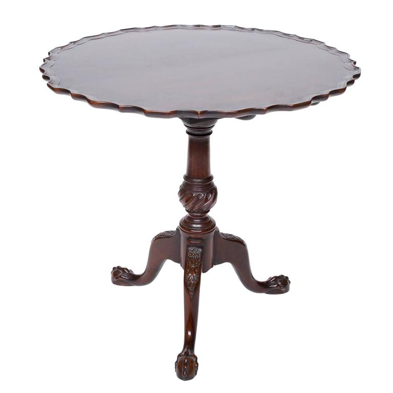 A Fine English Chippendale Mahogany Pie Crust Table For