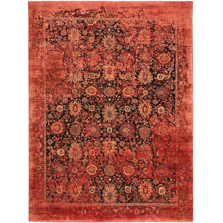 bidjar paddington pleasure from erased heritage carpet collection by jan kath at 1stdibs. Black Bedroom Furniture Sets. Home Design Ideas