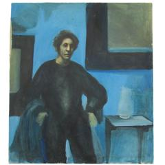 """Grim Jim"" Oil on Canvas by Conrad Vogel"