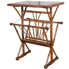 19th c. Bamboo Table/ Magazine rack