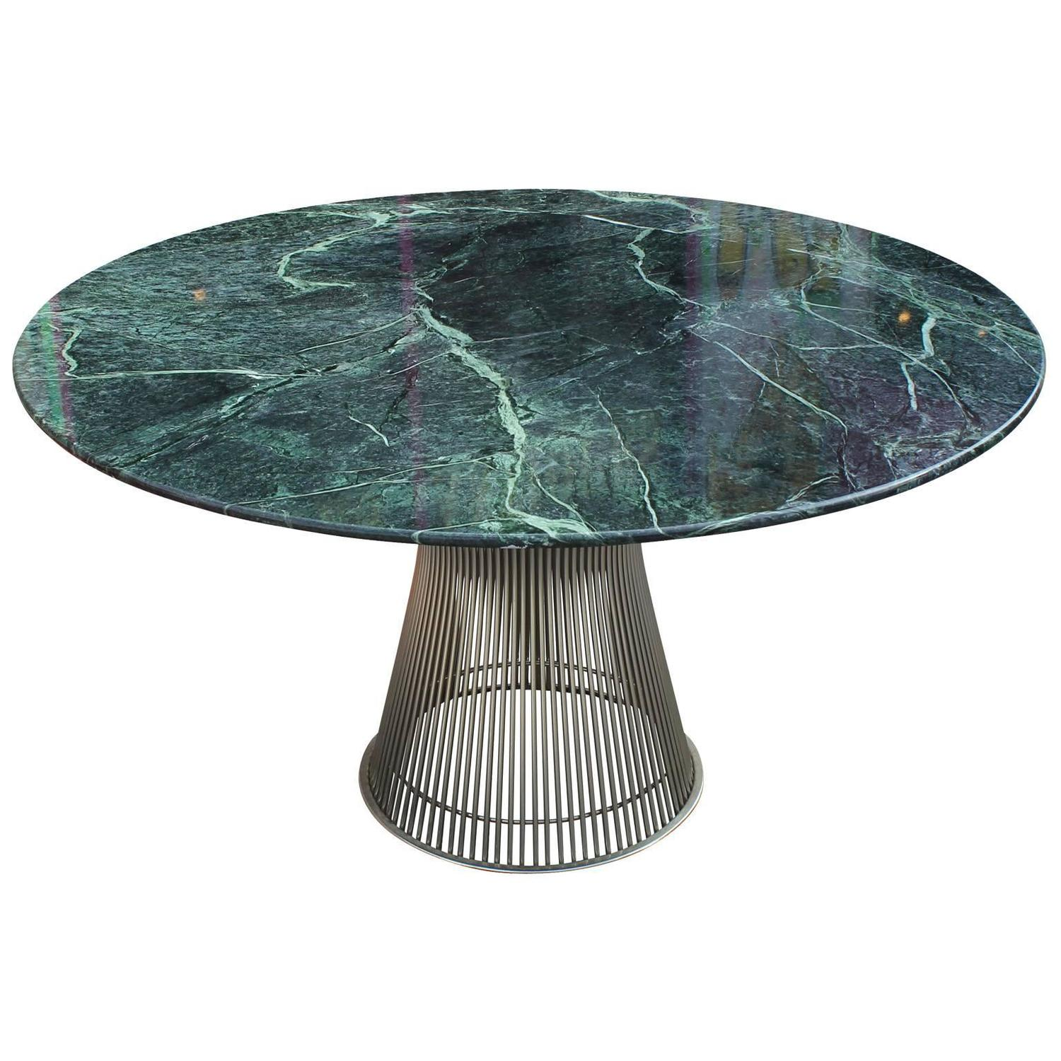 Iconic Warren Platner Dining Table with Green Marble Top  : platner2orgz from www.1stdibs.com size 1500 x 1500 jpeg 186kB