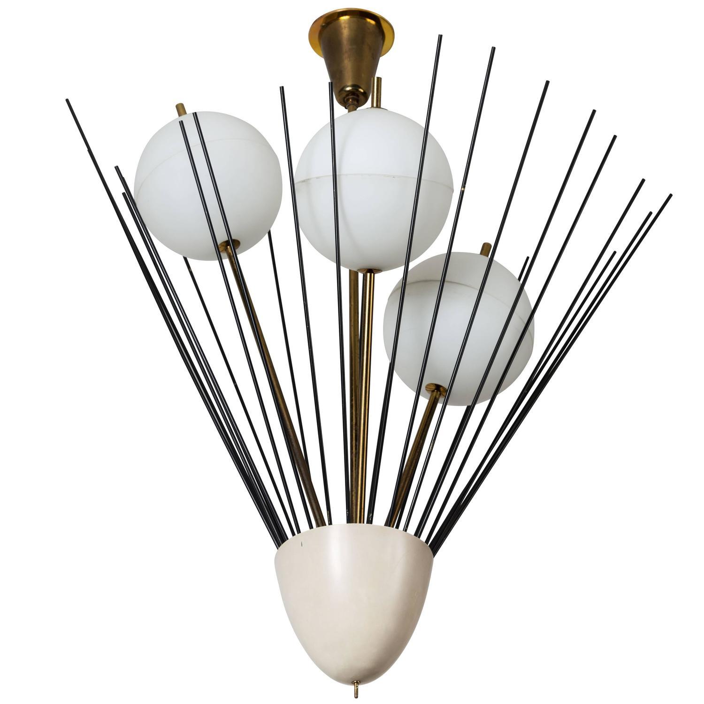 Angelo lelli for arredoluce chandelier at 1stdibs for Arredo luce