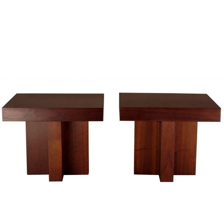 Pair of Occasional Tables by Milo Baughman