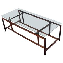 Arcitectural Henning Norgaard Rosewood and Glass Coffee Table for Komfort