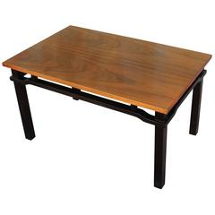 Elegant Mid Century Modern Two Tone Walnut Coffee Table