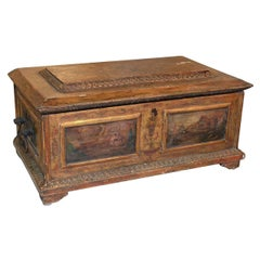 Rare Early 19th Century Italian Painted Coffer