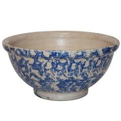 Rare and Unusual Signed Elsinore Pottery Spongeware Bowl