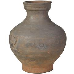 Han Dynasty Unglazed Red Pottery 'Hu' Jar