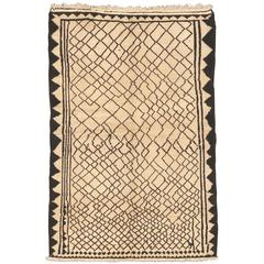 Black and White Gabbeh Rug