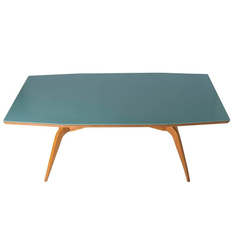 Center table with glass top in the Style of Campo and Graffi, Italy circa 1950
