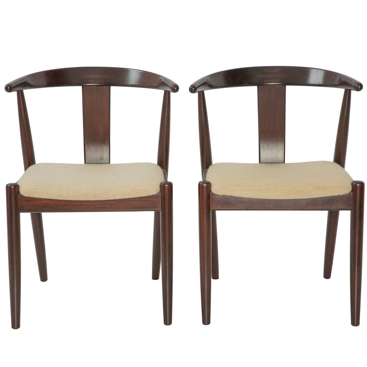 Pair Of Dyrlund Danish Modern Arm Chairs For Sale At 1stdibs