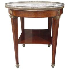 20thC Bronze Mounted Parquetry Burled Wood Round Table c.1900