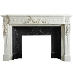 Louis XVI Mantel with Cast Iron Insert 'NY-138'