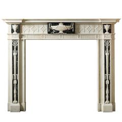 "18th Century Regency Mantel with Antico Verde Fluted Frieze ""Ny-134"""
