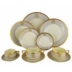 Art Deco Dresden Ambrosius Lamm Dinner Set Service for Eight