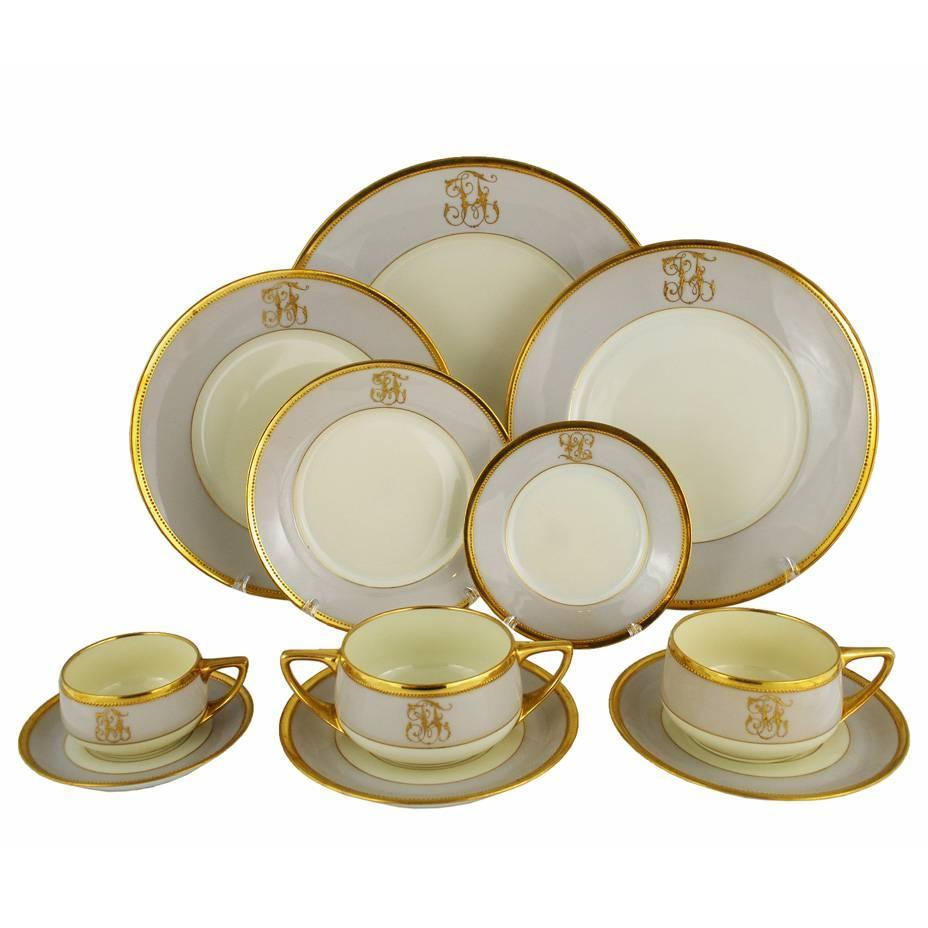 art deco dresden ambrosius lamm dinner set service for eight for sale at 1stdibs