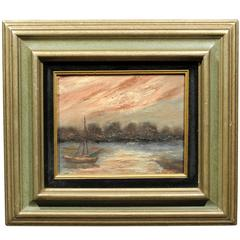 Impressionist Sailboat Painting