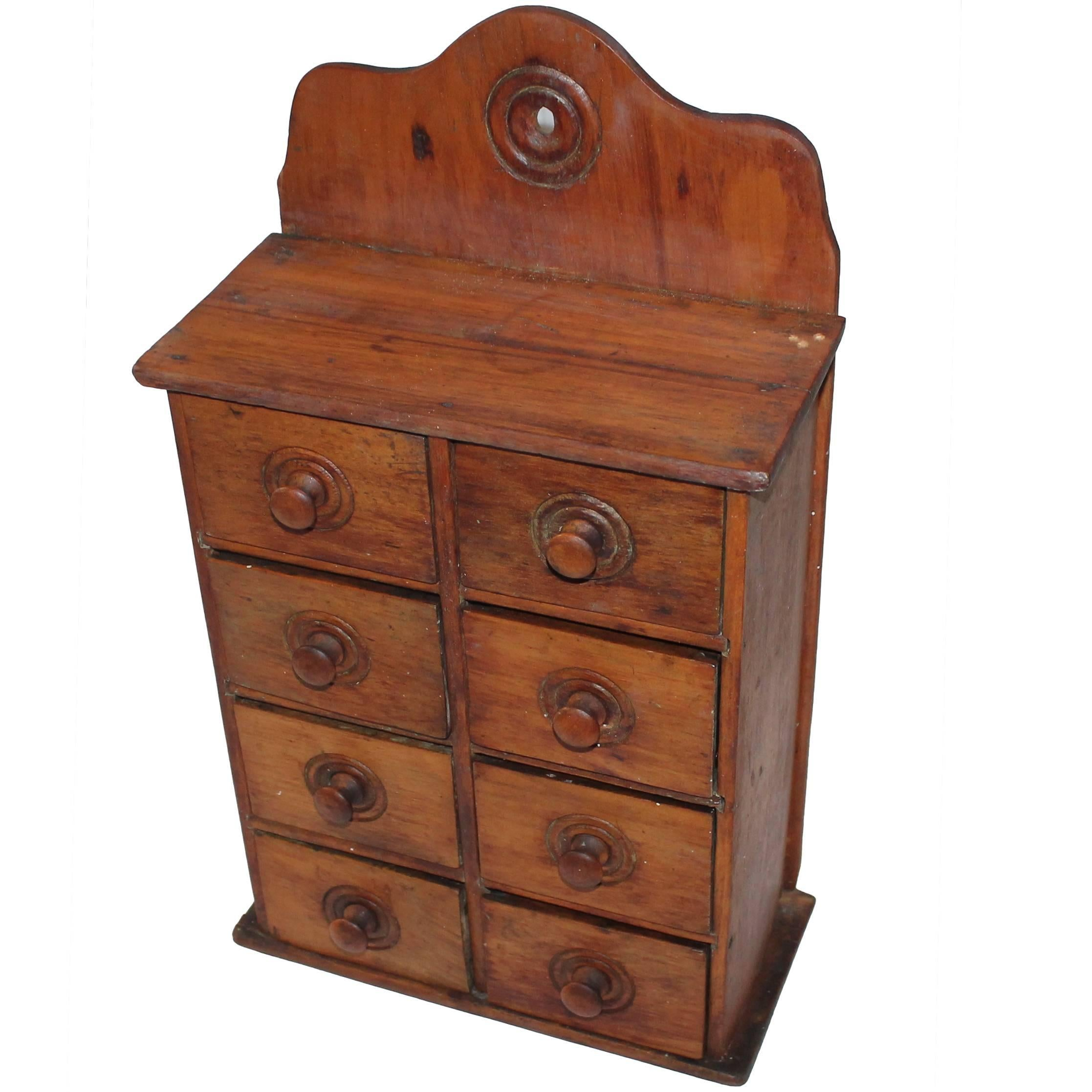 19th Century Wall Hanging Spice Cabinet