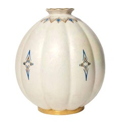 Scandinavian Modern,Ceramic Luster Glazed Vase Josef Ekberg, Gustavsberg, 1936