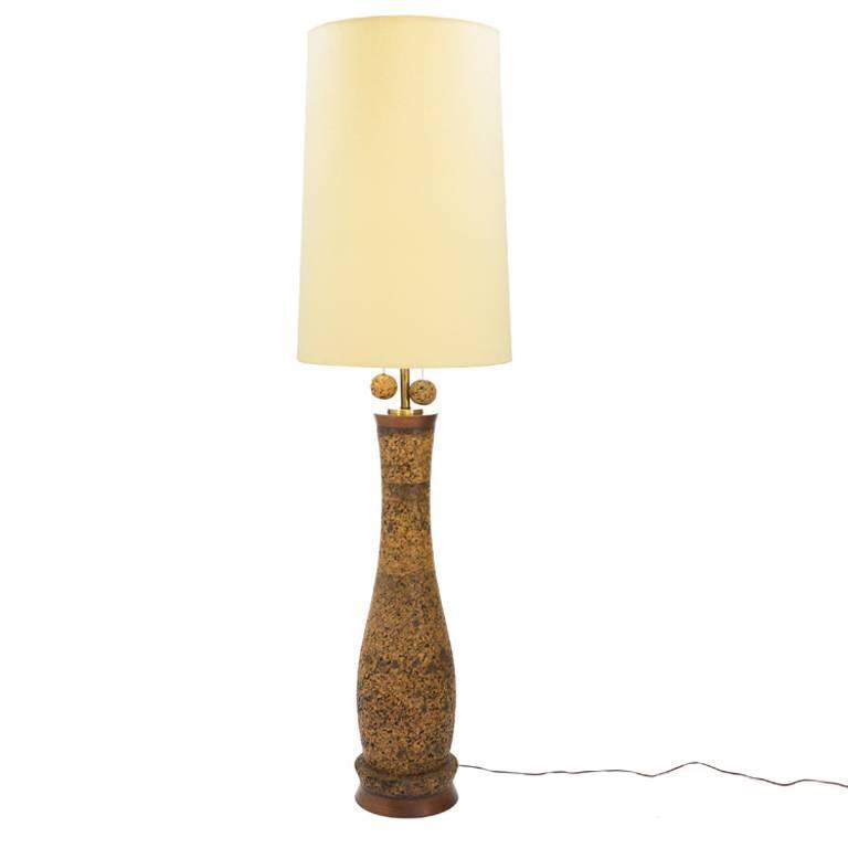 Massive Cork Floor Lamp For Sale