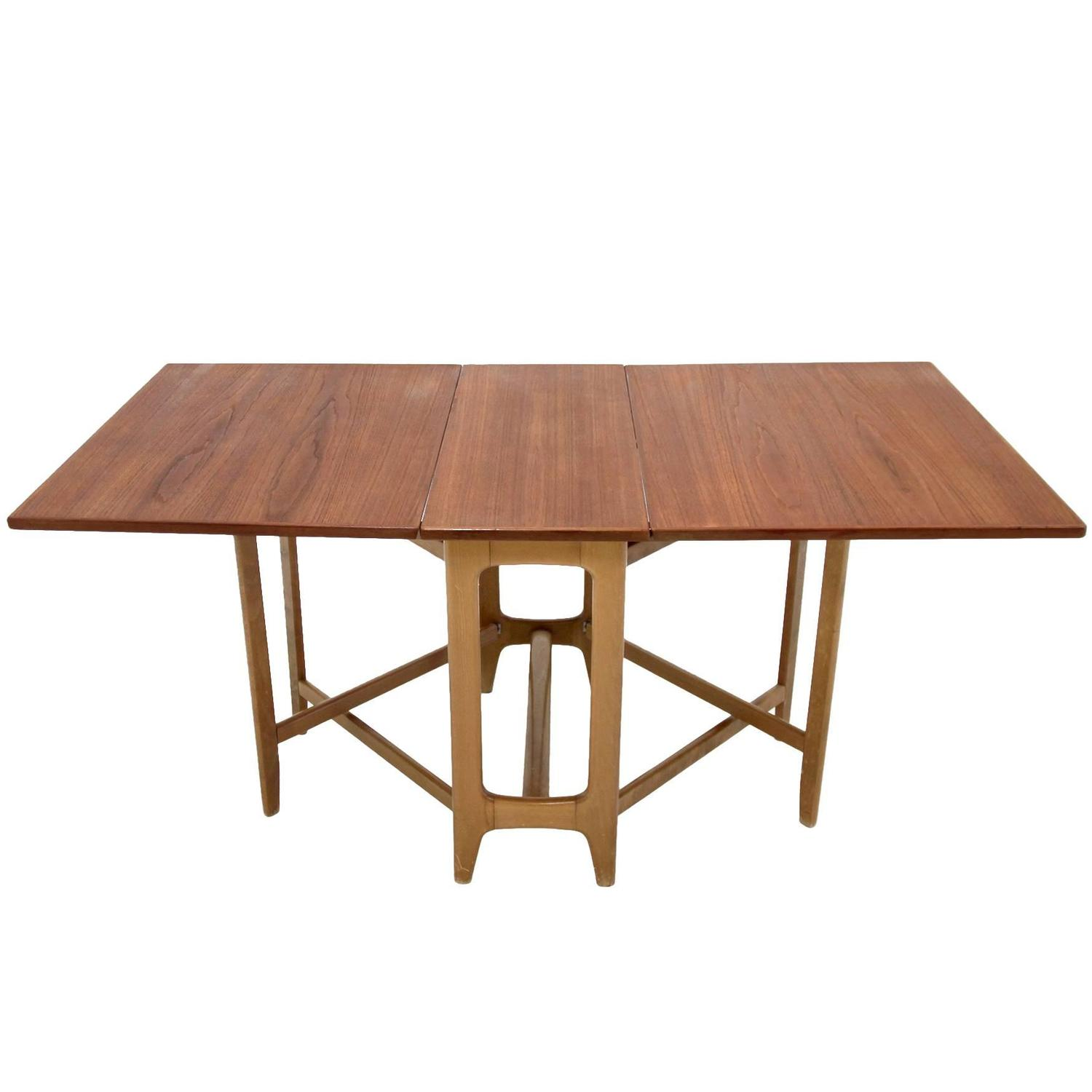Foldable dining table by bendt winge at 1stdibs - Foldable dining table ...