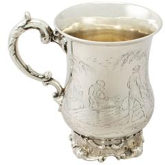 Sterling Silver Mug by Edward, John & William Barnard - Antique Victorian