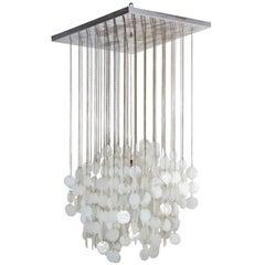Murano Glass Lamp Inspired by Verner Panton, Italy