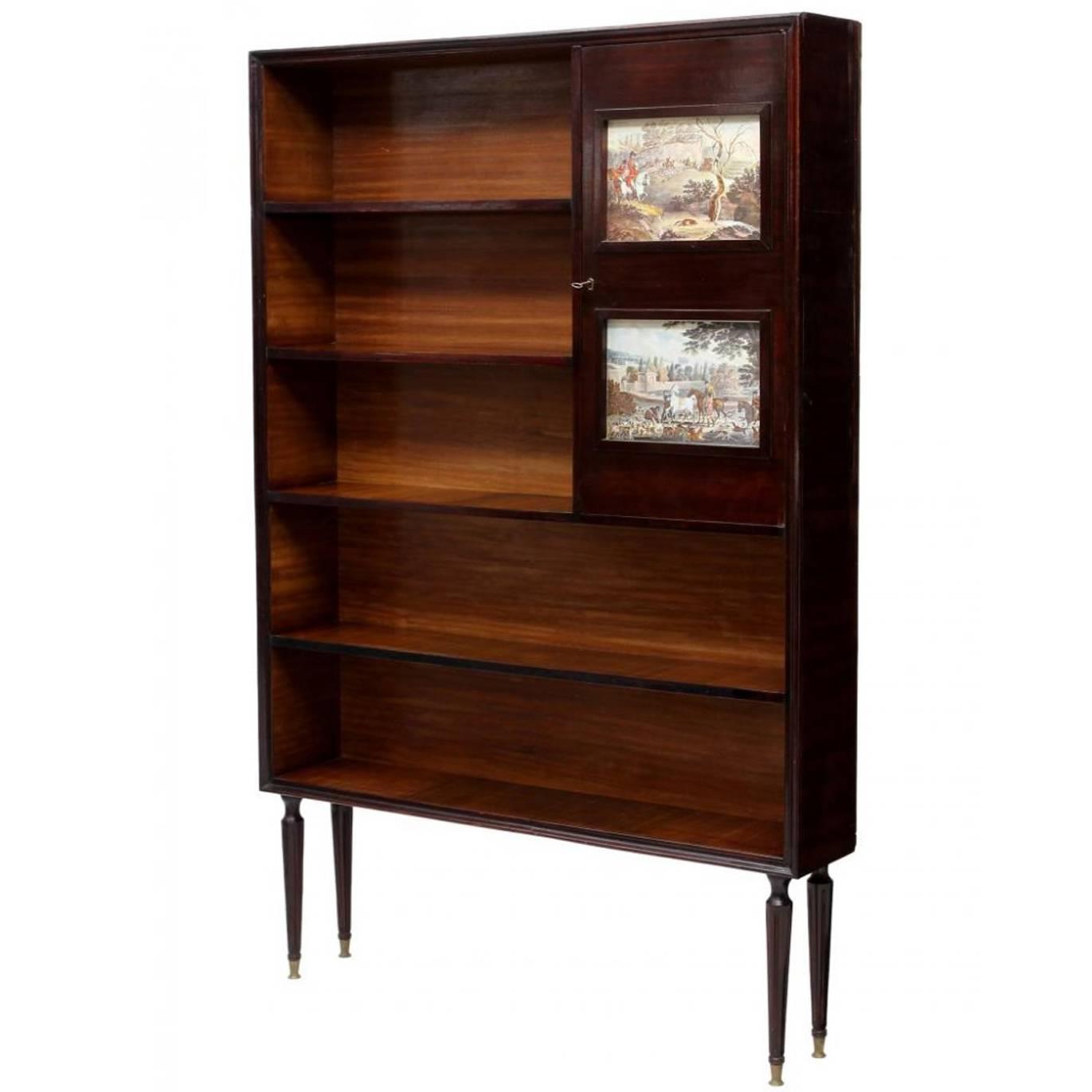 Italian Mid-Century Modern Bookcase at 1stdibs