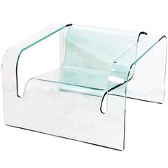 Modern Italian Glass Chair in the Style of Cini Boeri